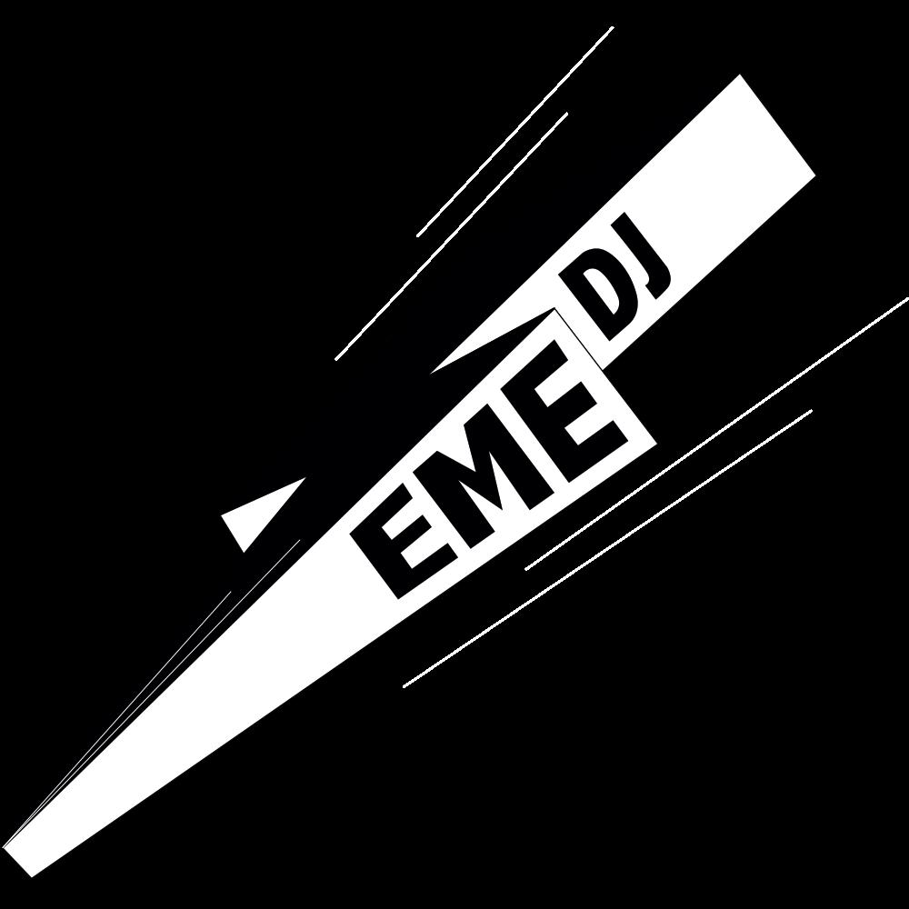 Logo EME DJ blanco